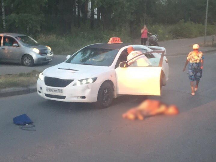 ВПрикамье напешеходном переходе таксист сбил женщину идевочку-подростка